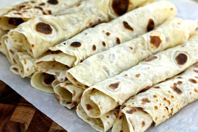 Norwegian lefse potato crepes