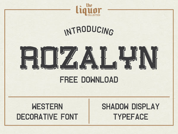 Download Rozalyn Shadow Font Free