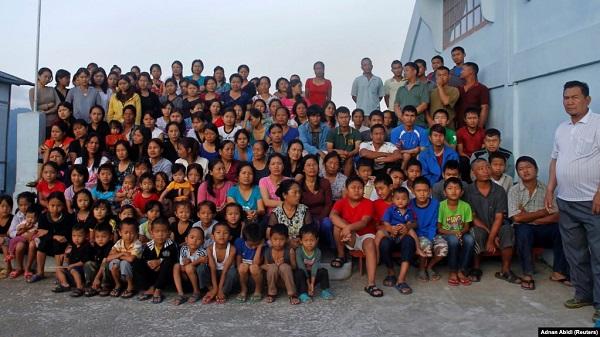 Punya 39 Istri dan 94 anak, Kakek Ziona berumur 76 tahun Meninggal di India