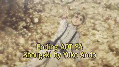 [Lirik+Takarir Indonesia] Shougeki by Yuko Ando -Ending AOT S4 Final Season