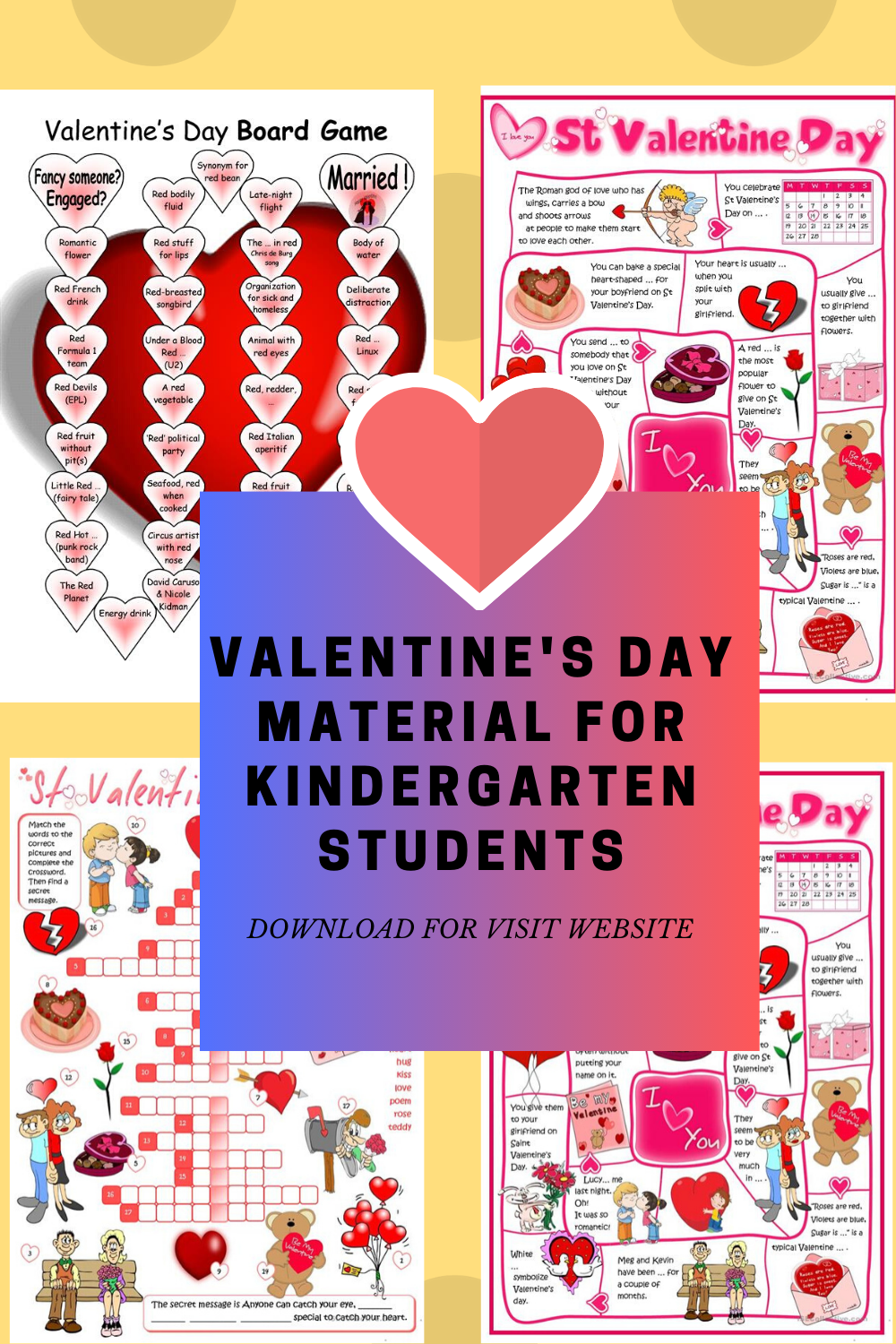Valentines Day Activities Coloring Page Worksheets