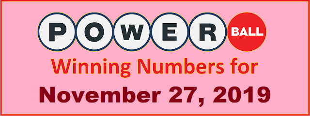 PowerBall Winning Numbers for Wednesday, November 27, 2019