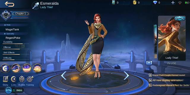 Skin Spesial Esmeralda Lady Thief