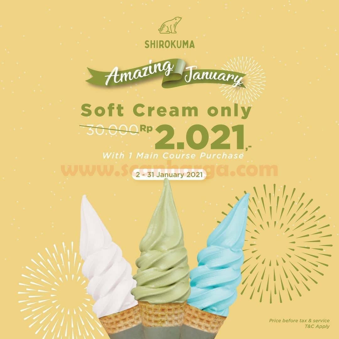 Promo Cafe Shirokuma Harga Spesial Menu SOFT CREAM hanya Rp. 2.021*