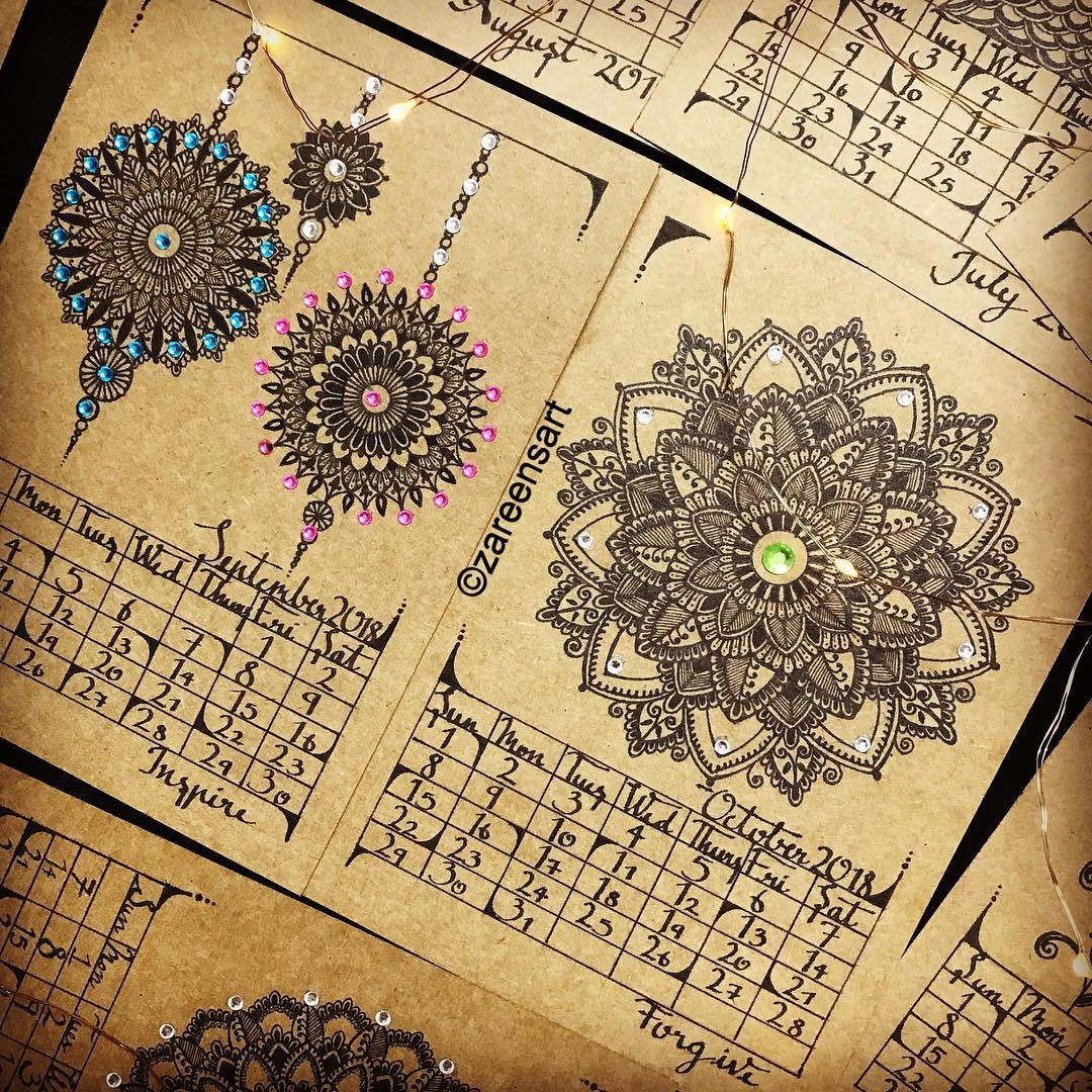 13-September-and-October-Mandala-Drawings-on-Journals-Calendar-and-Boxes-www-designstack-co