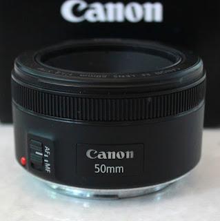 Jual Lensa Fix Canon 50mm f 1.8 STM Lengkap Fullset