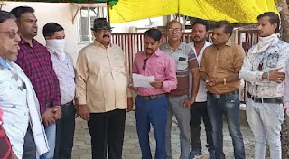 नगर के पत्रकारों ने राष्ट्रपति के नाम सौंपा ज्ञापन कहा पत्रकार के खिलाफ कार्रवाई गलत