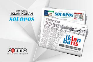 Pasang Iklan Cesspleng koran Solopos