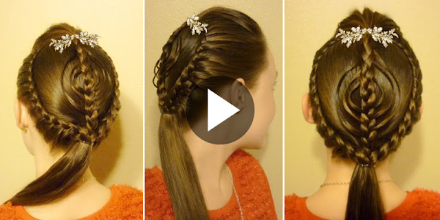 Learn How To Create Braided Ornament Hairstyle, See Tutorial