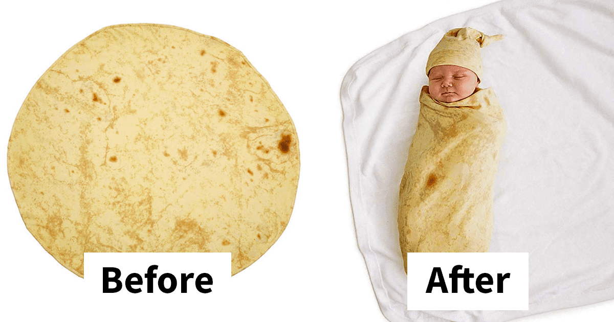 Amazon Is Selling A Swaddling Blanket To Wrap Your Baby Into A Little Burrito
