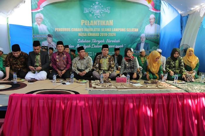 PCNU Lampung Selatan Resmi Dilantik, Nunik Ajak Keluarga Besar NU Kawal Pembangunan Provinsi Lampung.
