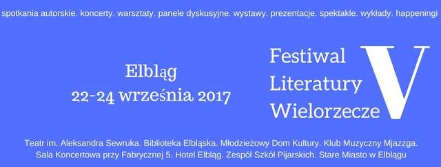 Patronat Szufladopółki: V Festiwal Literatury Wielorzecze - program