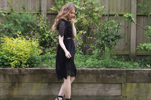 SS16 H&M Black Lace dress