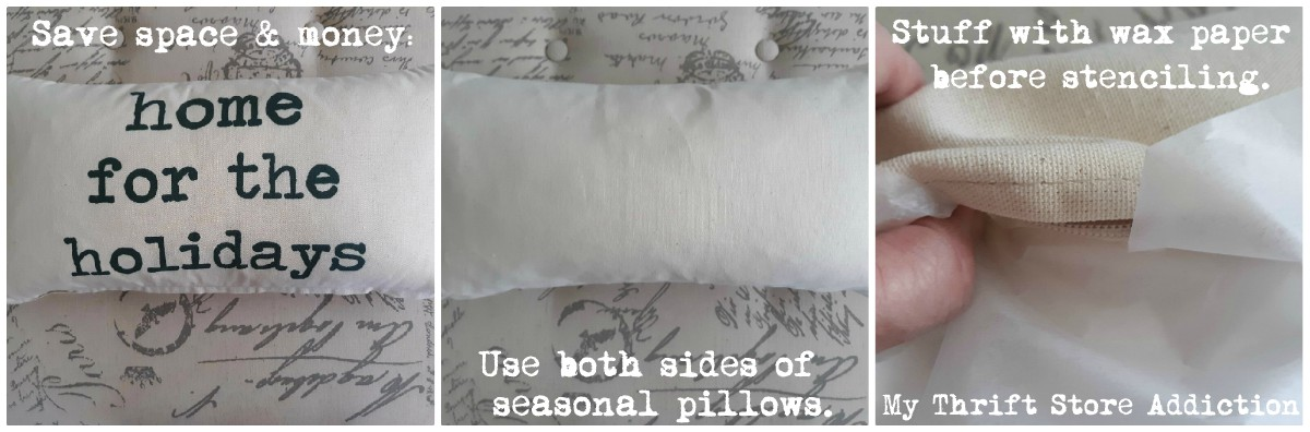 how to stencil a seasonal pillow