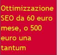 Offerta ottimizzazione SEO prezzo 500 euro