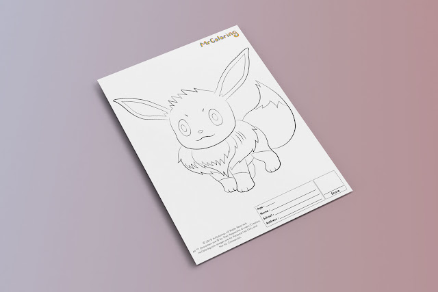Free Printable Anime Pokemon Coloriage Outline Blank Coloring Page eevee pdf For Kids Kindergarten Preschool toddler coloring sheets