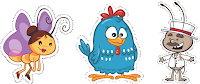 vetores da galinha pintadinha gratis
