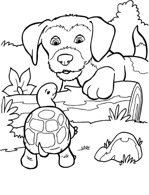 Dogs coloring pages 98