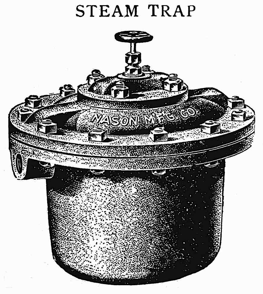an illustrated 1901 steam trap by Nason MFG. CO.