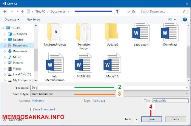 bagaimana cara untuk menyimpan file dokumen microsoft word