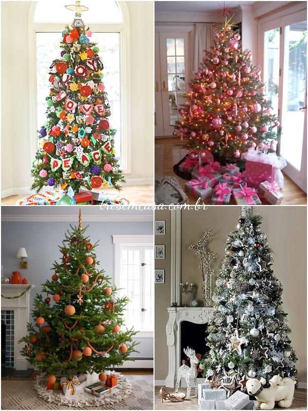 ideias decorar árvore natal