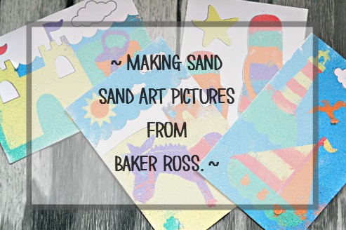 Sand art self adhesive sheets from baker ross review