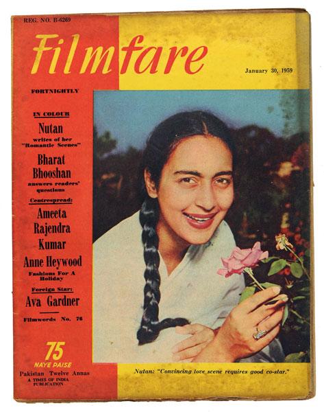 Nutan on Filmfare Magazine Cover - 1959