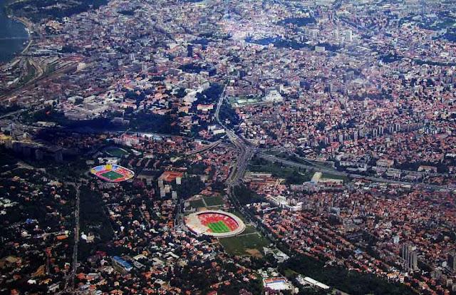Vista aérea de Belgrado
