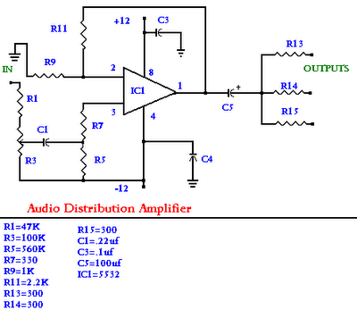Audio Distribution Amplifier