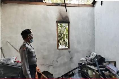 Bakar Sampah Rumah Di Kedungwaru Tulungagung Terbakar