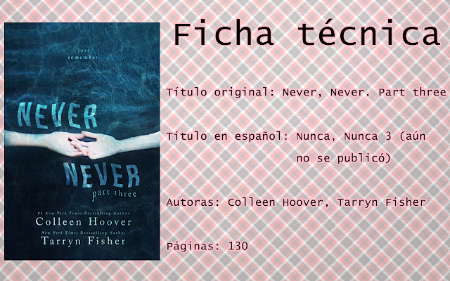 """Reseña """"Nunca, Nunca 3"""""""