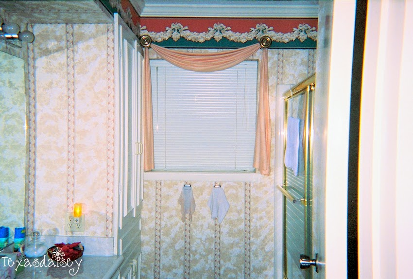 my guest bath redo before