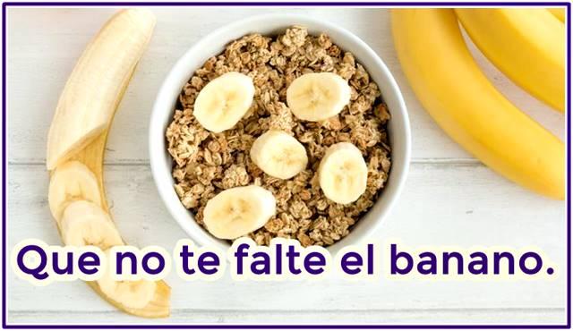 Que no te falte el banano en tu alimentación saludable