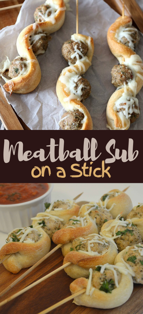 Meatball Sub on a Stick #dinnereasy #quickandeasy #dinnerrecipe #lunch #amazingappatizer
