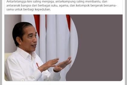 OHHH... Pantas Saja Jokowi Bersyukur....