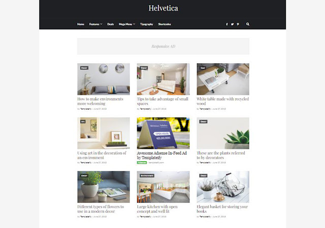 Helvetica Blogger Template, Blogger Templates, Blogger Theme, Templates, Fast Loading Template, Seo Optimized Theme, Blogspot Templateify templates
