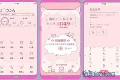 download tema vivo pink pig