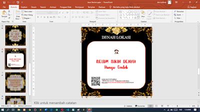 Template Undangan Video Digital Menggunakan PowerPoint PPT Versi Jawa