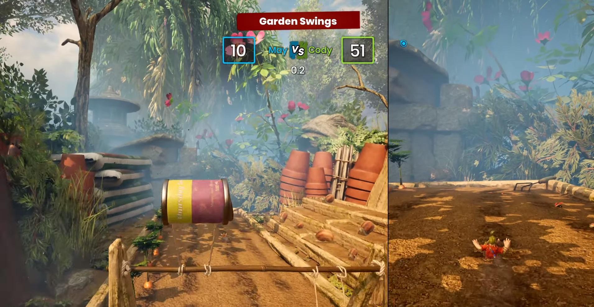 "Mini-game number 18 ""Garden swing"""