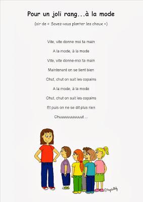 Comptine pour le rang maternelle