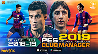 PES 2019 Club Manager Android Official 400 MB Compressed