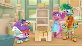 Abby Cadabby, Blögg, Gonnigan, Abby's Flying Fairy School Opposite Day,, Sesame Street Episode 4406 Help O Bots, Help-O-Bots season 44