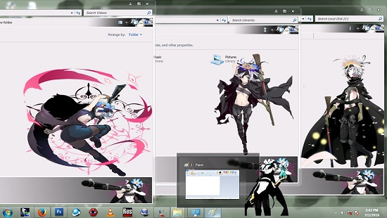 Theme Window 7 Rokka No Yuusha [Flamy Speeddraw] By AoAnime 2