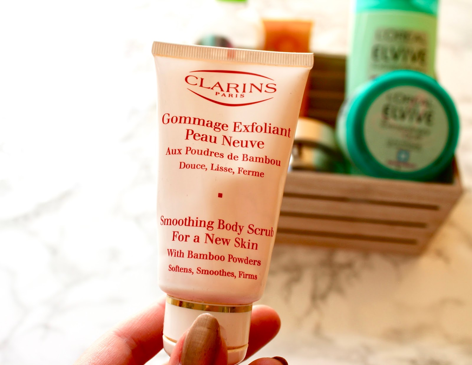 Empties Clarins Smoothing Body Scrub For a New Skin