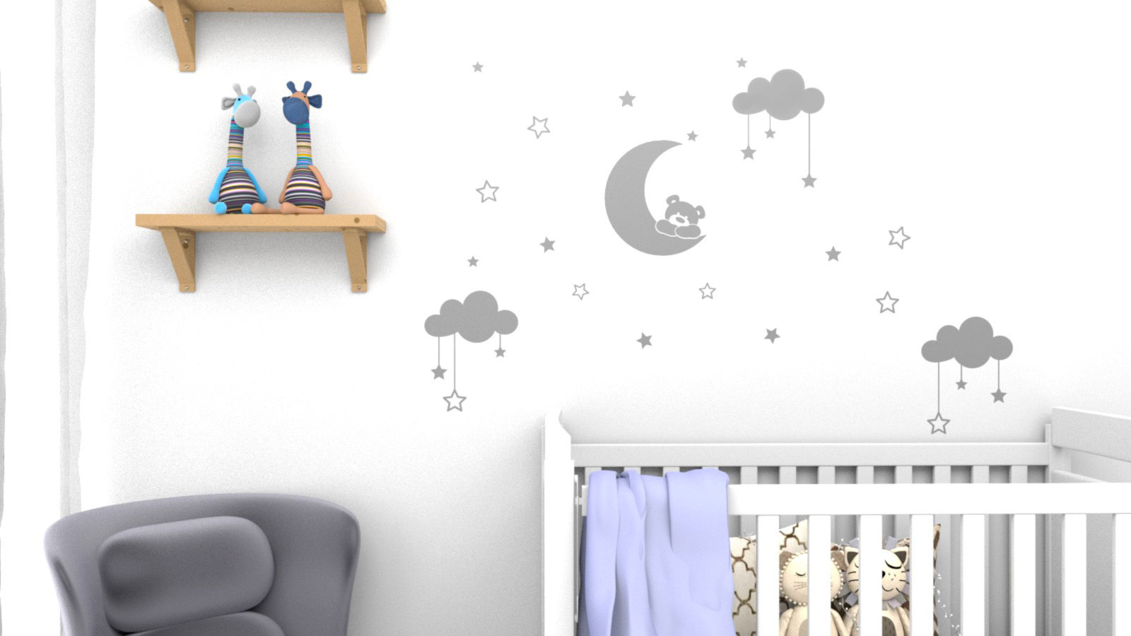 Adesivos para quarto do seu bebê