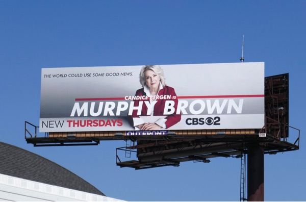 Murphy Brown CBS revival billboard