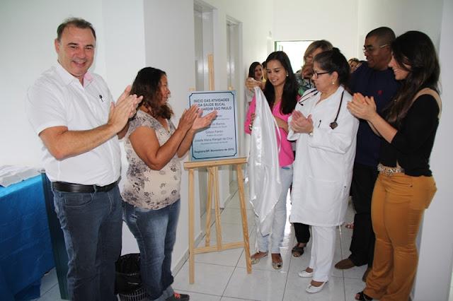 Prefeito Gilson inaugura ampliação e serviço odontológico no PSF Jardim São Paulo em Registro-SP