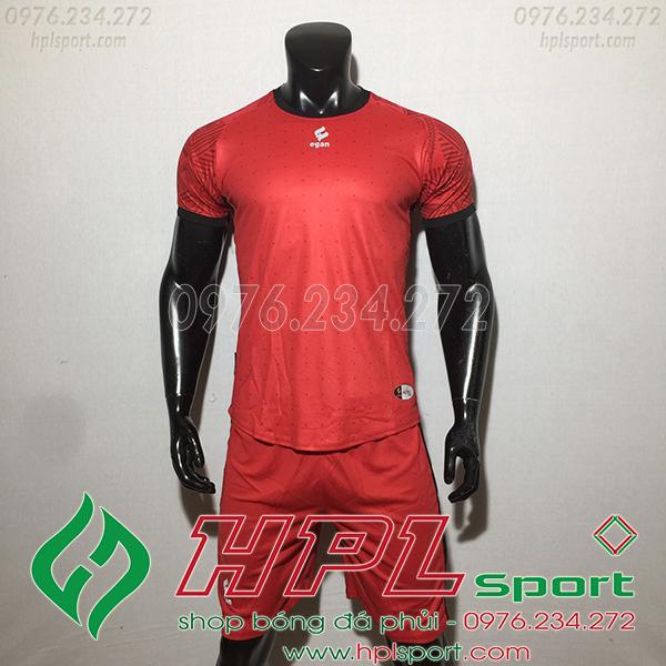Áo ko logo Egan Atec màu đỏ