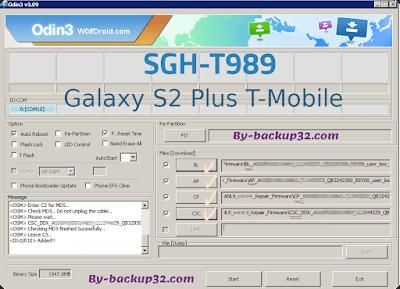 سوفت وير هاتف Galaxy S2 Plus T-Mobile موديل SGH-T989 روم الاصلاح 4 ملفات تحميل مباشر