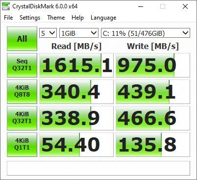 Benchmark CrystalDiskMark Asus VivoBook S14 S433